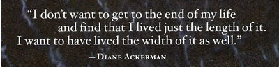 Diane Ackerman on Life