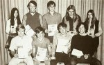 High School Newspaper Staff, 1970