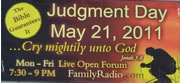 Billboard for May 21 Judgement Day