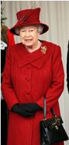 Queen Elizabeth with her purse