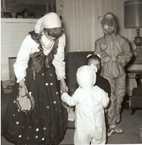 Me as mouse (gypsy sister, panda brother, rabbit nephew); 1961