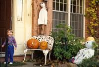 Pumpkins and Yard Decor, 1988