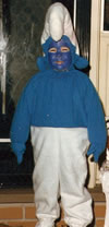 Son #1 as a Smurf