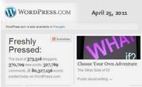 Freshly Pressed: April 25, 2011