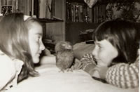 Hootnanny the owl (that's me on the right)