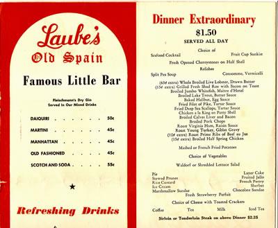 Laube's Dinner Extraordinary