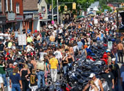 Port Dover with Motorcycles: Friday the 13th