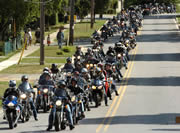 Waiting to get into town: Port Dover, Friday the 13th