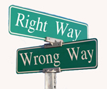Right Way vs. Wrong Way