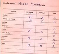 Grade 1 Report Card