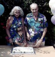 Son 1 at Grandparent's 45th Anniversary