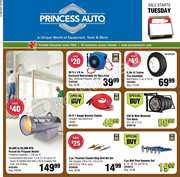 Princess Auto Flyer