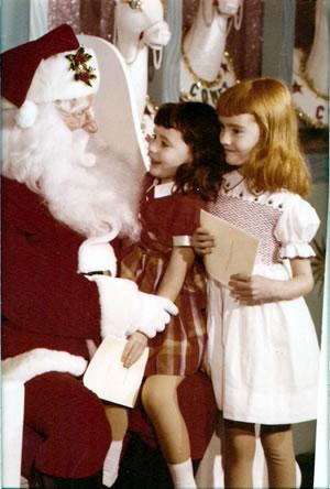 Visiting Santa 1958