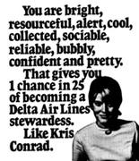 Delta Stewardess Ad 1970